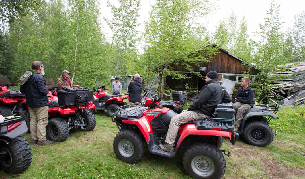 ATVs arrive at historic homestead